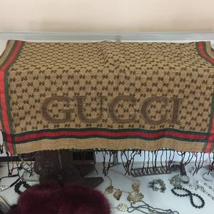 Make offer! Gucci vintage shawl/scarf used